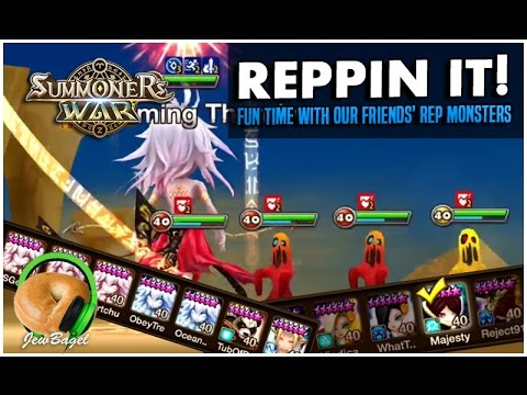 SUMMONERS WAR: Reppin It! - Fun time with our friends rep monsters :D