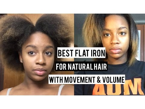 Best Flat Iron for Movement & Volume on Natural Hair | BeautybyTommie