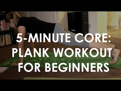 5-MINUTE CORE: Plank workout for beginners!