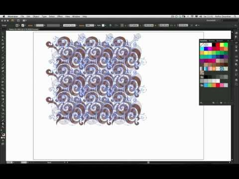 Create a repeating Pattern for the Web with Adobe Illustrator CS6