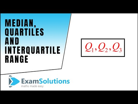 Median, Quartiles and Interquartile Range : ExamSolutions