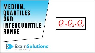 Median Quartiles And Interquartile Range Examsolutions