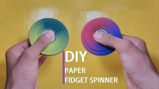 make your own paper fidget spinner-DIY(very easy)