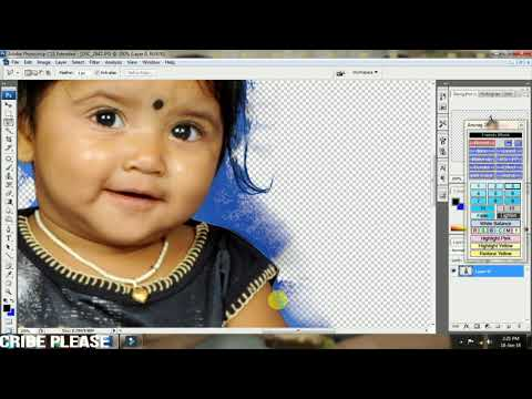 how to change hair cutting in photoshop cs3