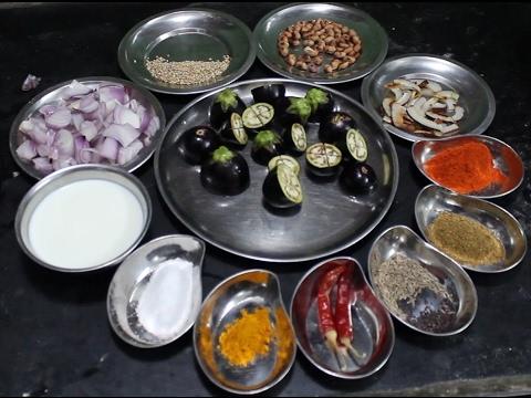 Telangana Style of Cooking Stuffed Brinjal Curry | Vankaya Masala Curry