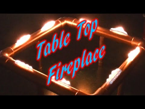 Decorative Table Top Fireplace DIY Project!