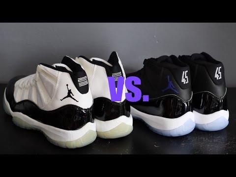 2016 Air Jordan XI Space Jam vs 1995 OG Concords