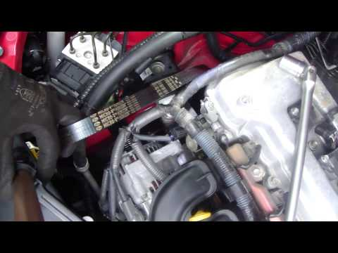 How to replace Drivebelt or serpentine belt Toyota Corolla. Air conditioner. Years 2002 to 2012