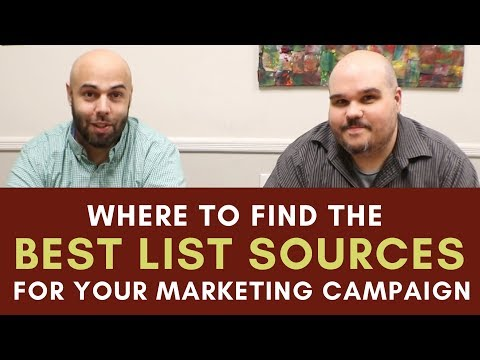 Best Wholesale List Sources for Your Marketing Campaign Chat with Chatto 007