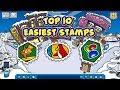 Top 10 Easiest Stamps in Club Penguin Rewritten
