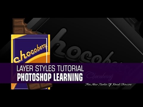 How to make  Chocolate wrapper  in Photoshop Layer Styles