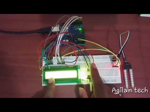 Measuring moisture of soil using soil sensor on arduino.