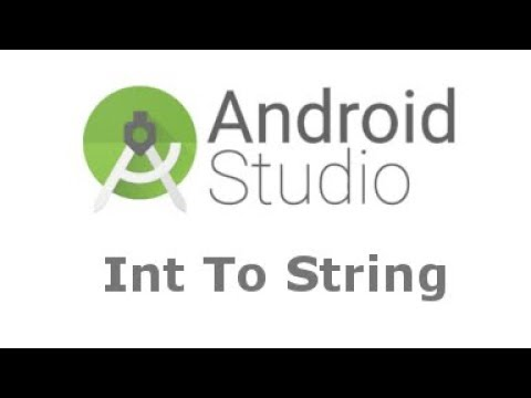Integer To String, String To Integer, Android Studio