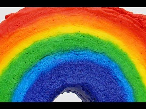 Rainbow Cake using Whipped Cream!