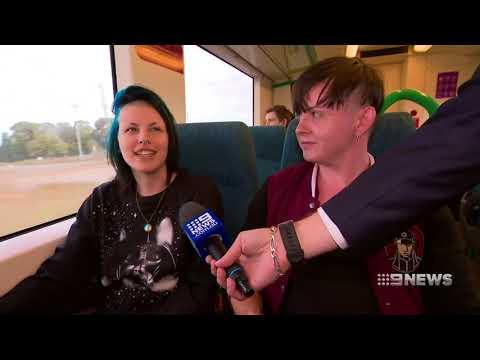 Jumpy Jacinta proposes Geelong High Speed Rail [9News • April 26 2018]