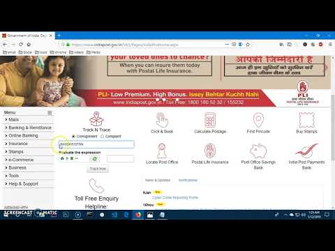 How to track Speed Post online - India Post