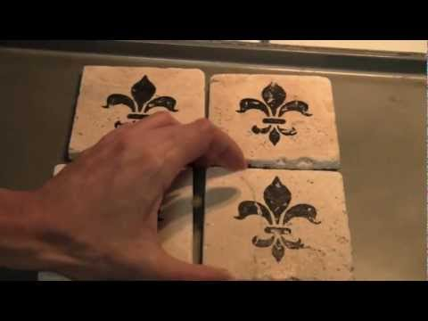 How to make water absorbent coasters