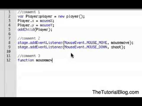 Basic Flash Actionscript 3 Shooting Game Tutorial   Flash Tutorials For Beginners