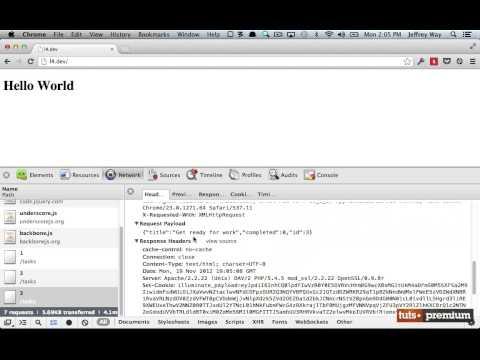 Backbone JS Updating Rows - 21 tutsplus