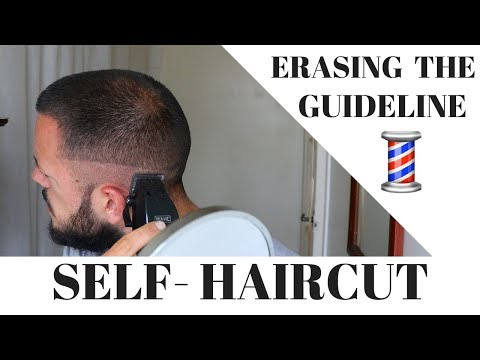 ERASING THE GUIDELINE - HOW TO CUT YOUR OWN SKIN FADE - SELF BARBER FADE