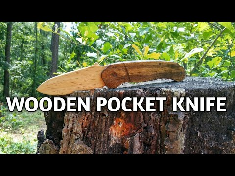 Wooden pocket knife diy homemade