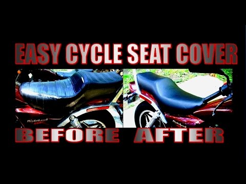 Easy motorcycle seat cover, no sewing!