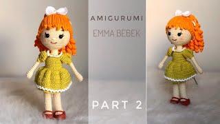 Mia with Colored Dress - Amigurumi PDF CROCHET PATTERN | Crochet ... | 180x320