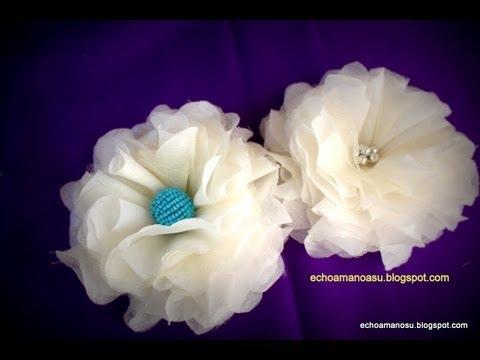 fabric flower very easy method