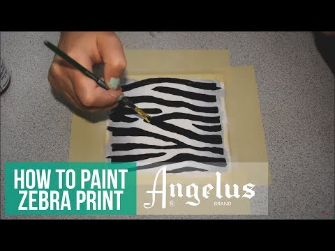 How to Paint Realistic Zebra Print with Angelus Leather Paints by @KendrasCustoms