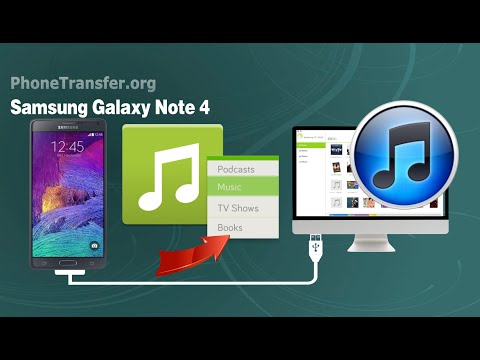 How to Transfer Music from Samsung Galaxy Note 4 to iTunes, Sync Note 4 Playlist with iTunes