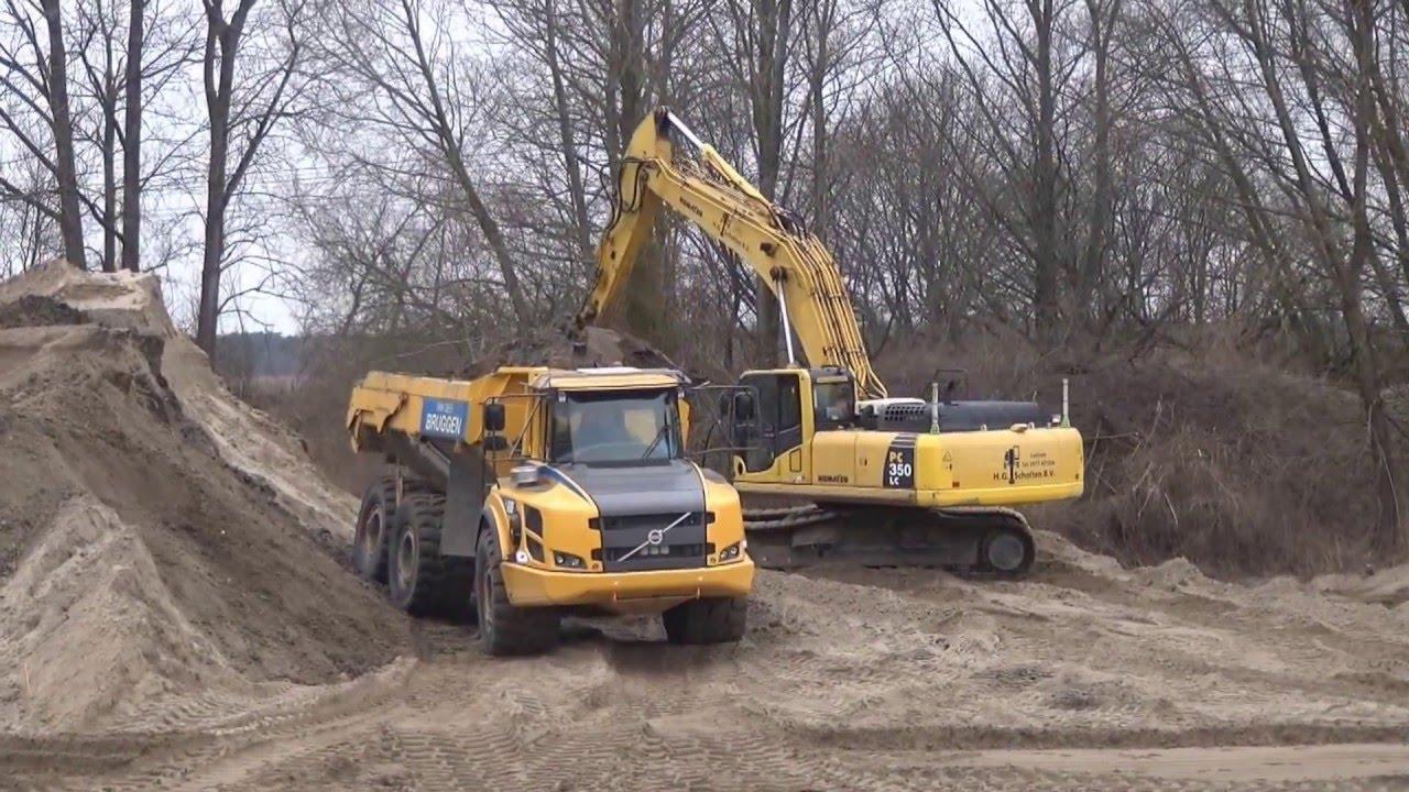 2016-03-18 grondverzet zandopslag Twentekanaal bij Markelo