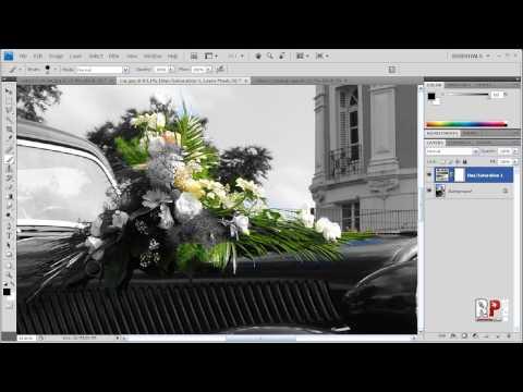 Photoshop CS4: Black & White w/ Color Accents