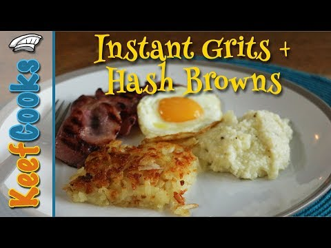 Instant Grits and Hashbrowns | Southern US Breakfast Food | Review/Taste Test