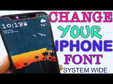 Change Your iPhone Font BytaFont3 iOS 11