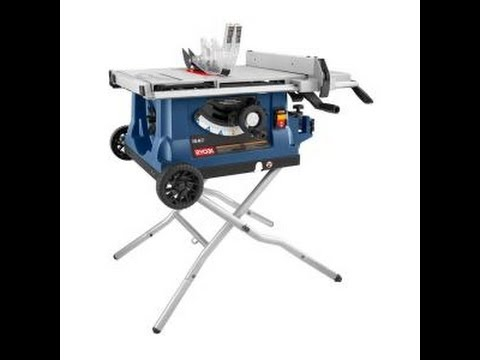Changing The Blade in a Ryobi Table Saw