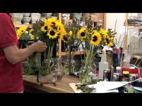 Sunflower Bridesmaids Bouquet Made in Fast Forward at Gillespie Florists