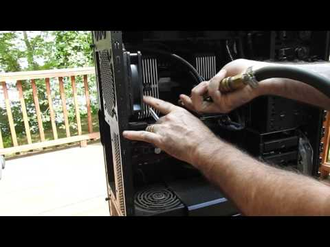HOW TO CLEAN DUST OUT OF PC W/ TITAN X  HAF X LIQUID COOLED