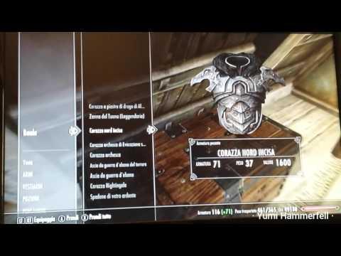 Skyrim - armi e armature nel mio baule
