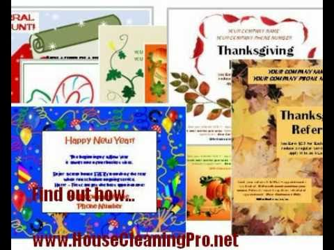 Cleaning Company Flyers   House Cleaning Business