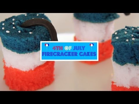 4th of July Firecracker Cakes