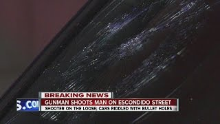 Man gunned down in Escondido, suspect leaves trail of bullets