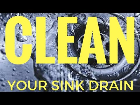 CLEAN YOUR SINK DRAINS WITH BAKING SODA AND VINEGAR - NO CHEMICALS