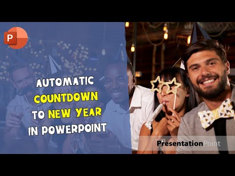Automatic countdown to New Year in PowerPoint