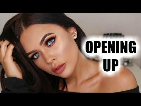 OPENING UP TO YOU! Chatty GRWM |Glitter Spotlight Eyes