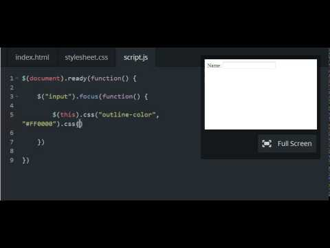Codecademy: jQuery - Let's .focus()!