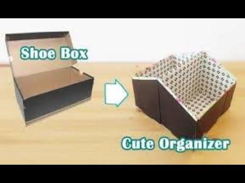 DIY Makeup Storage and Organization | DIY MAKEUP ORGANIZER with a Shoe Box