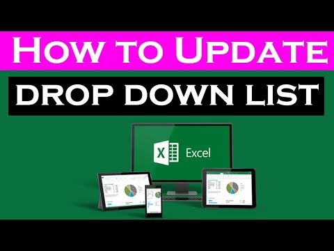 How to Update Excel 2016 drop down list