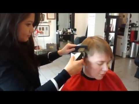 Female Military HairCut Pt1