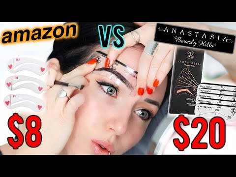 THE PERFECT EASY BROW?! Anastasia Beverly Hills vs $8 Amazon Brow Stencils