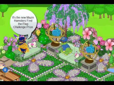 Webkinz Mazin Hamsters Find the Flags Challenge Prize Garden Gyroscope